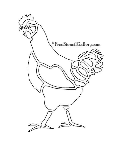 chicken stencil free stencil gallery