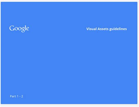 google design guidelines google visual assets guidelines part 1 on behance