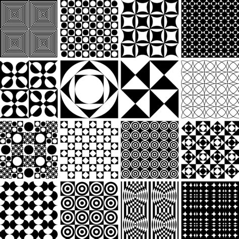 free pattern vector ai vector monochrome geometric seamless pattern design