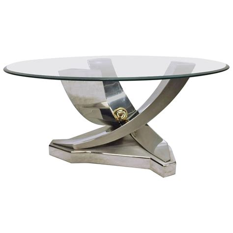 brushed steel coffee table mix of polished chrome brass and brushed stainless steel