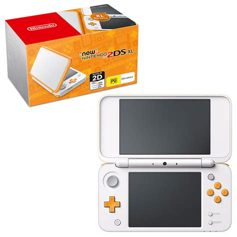 nintendo xl console new nintendo 2ds xl white orange console the gamesmen