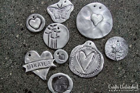 how to make silver clay jewelry polymer clay tutorial faux pewter pendants