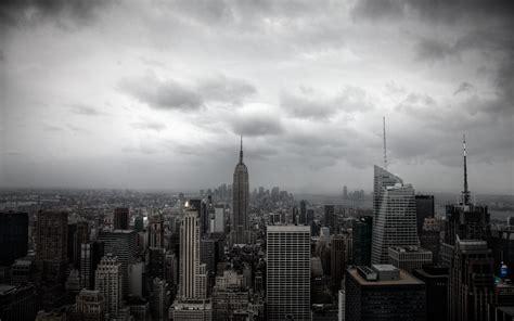 york black  white cloudy day skyline desktop wallpaper