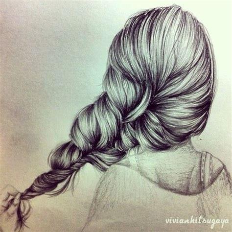 Sketches Hair by Braided Hair Drawing Hair Drawings