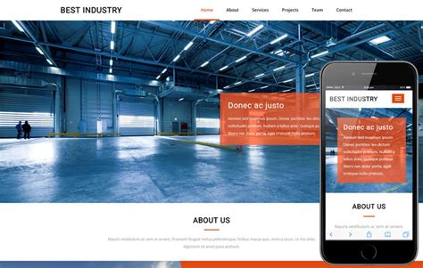bootstrap templates for industrial carmotive an industrial category bootstrap responsive web
