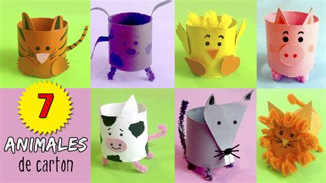 manualidades hechas con carton de animales 7 animales de cart 243 n con tubos de papel higi 233 nico 161 hoy