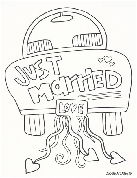 wedding coloring pages free wedding coloring pages doodle alley