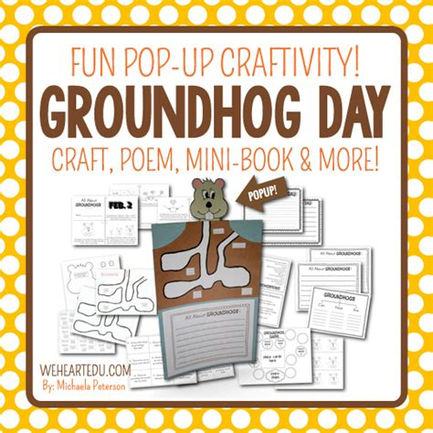groundhog day up groundhog day activities pop up craft mini book and more