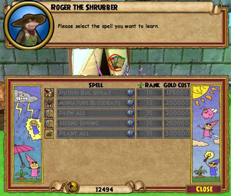 Wizard101 Gardening Spells by The Plow All Plant All Gardening Spells Of The Spiral