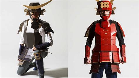 armor si鑒e social cool samurai armor made out of cardboard geektyrant