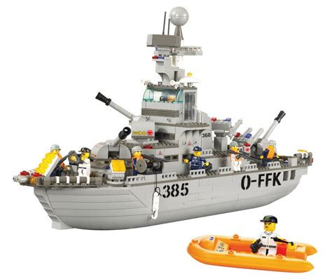 Lego Sluban Series Riqi sluban cruiser bricks 577pcs sea service series navy building blocks construction education toys