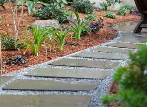walkways and paths gravel path with flagstone franklin residence walkways stepping stones and mulches