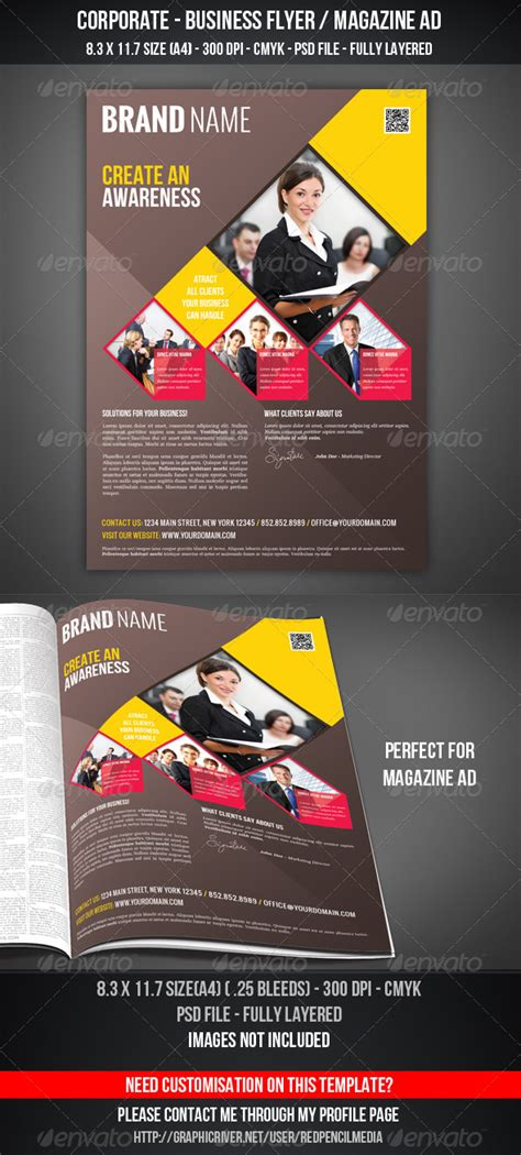 Corporate Business Flyer Magazine Ad By Redpencilmedia Graphicriver Graphicriver Iii Flyer Template