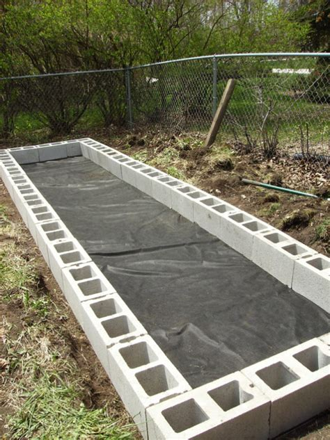 cinder block raised bed concrete block raised garden beds