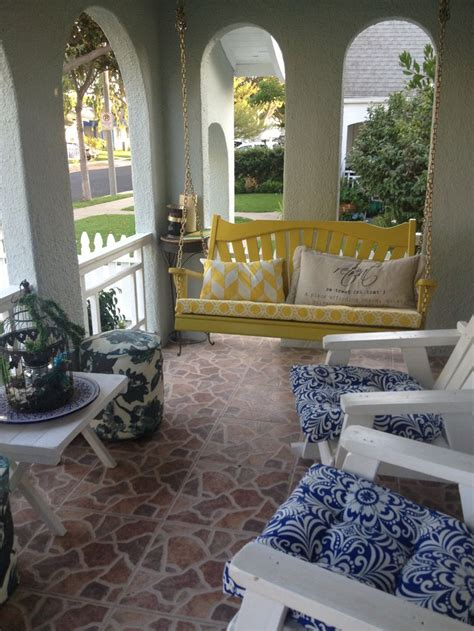 yellow porch swing 17 best images about front porch on pinterest swinging
