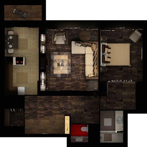 Interior design in 1-bedroom apartment of 88 m2 on Behance 1 Bedroom Apartment Interior Design