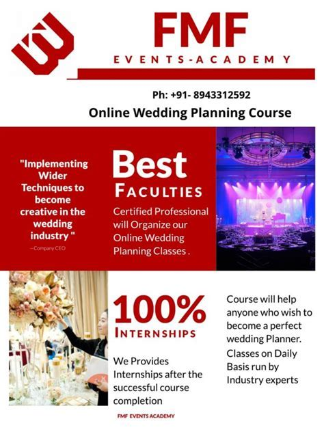 Online Wedding Planning Course India   FMF Events Academy