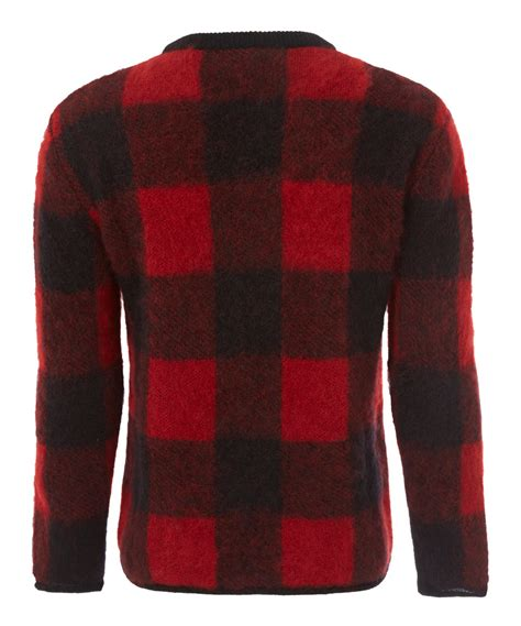 Who Wore It Better Wang Buffalo Plaid Cardigan by Lyst Valentino Buffalo Check Knit Jumper In Black