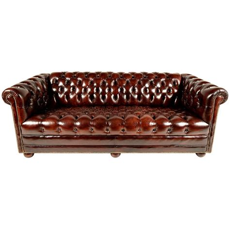 Chesterfield Tufted Leather Sofa For Sale At 1stdibs Chesterfield Sofa For Sale