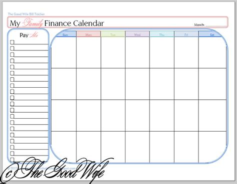 printable monthly bill calendar monthly payment coupon template printable calendar