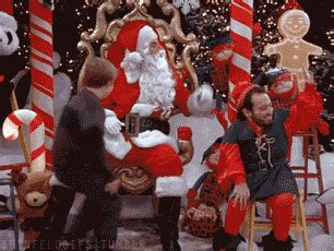 santa pain gif find share  giphy