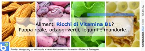 alimenti contengono vitamina b1 vitamina b1 negli alimenti dove si trova ed a cosa serve