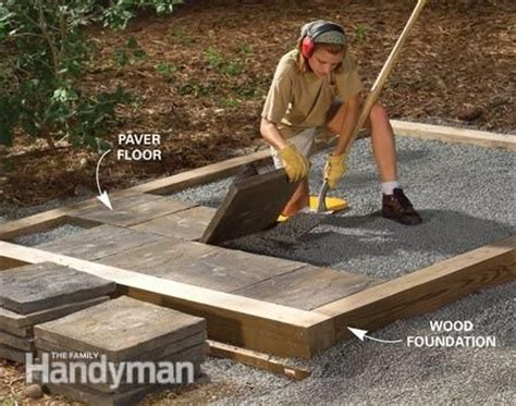 Building A Shed On A Concrete Slab by Tips For Building A Storage Shed The Family Handyman