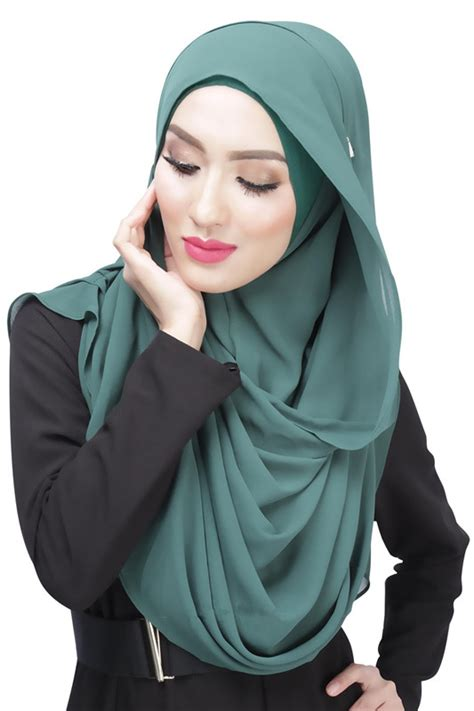 Top By Dhijab aliexpress buy tj32 easy to operate headscarf two pieces muslim veil lazy monochrome