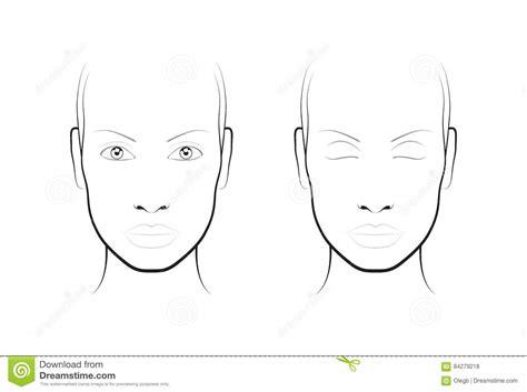 face chart makeup artist blank template stock vector art young woman face chart makeup artist blank template