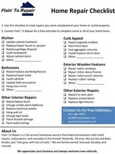 home repair checklist template best photos of home maintenance check list home