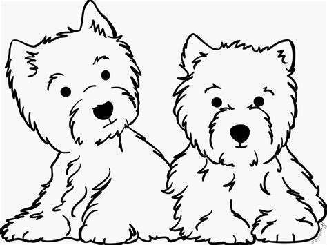 west highland terrier coloring pages sketch coloring page