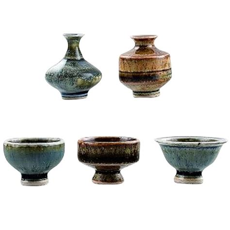 Vases And Bowls by Collection H 246 Gan 228 S Miniature Vases And Bowls A Total Of