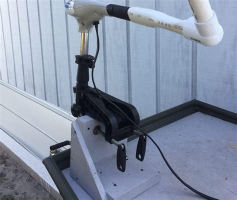 bow boat mount transom mount trolling motor on bow bracket jtgatoring