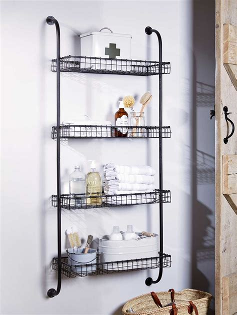 metal bathroom shelves great bathroom storage ideas real homes