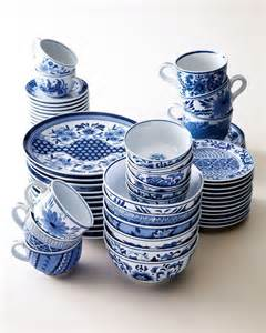 nm exclusive traditional blue white dinnerware