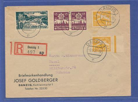 Brief 20g Schweiz Danzig 1937 R Brief In Die Schweiz Mit Mischfrankatur 183 Tilman Dohren Briefmarken M 252 Nzen