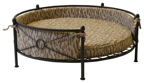 metal dog bed 4d concepts rounded pet bed in smoked metal traditional
