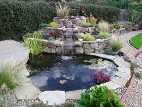 landscaping ponds and waterfalls with stepping waterfalls and small pond so look beautiful on
