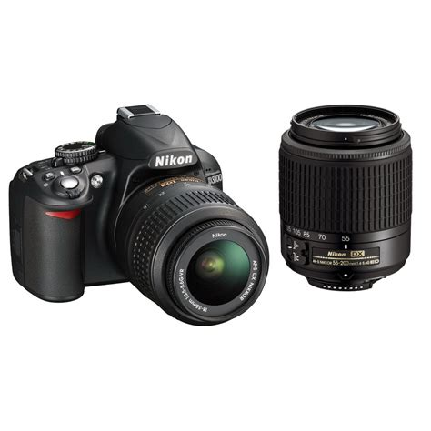 nikon d3100 dslr with nikkor 18 55mm and 55 200mm 13284