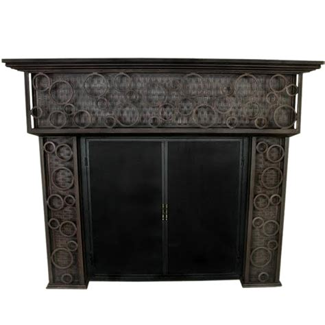 Iron Fireplace Mantel by Frisco Wrought Iron Fireplace Mantel