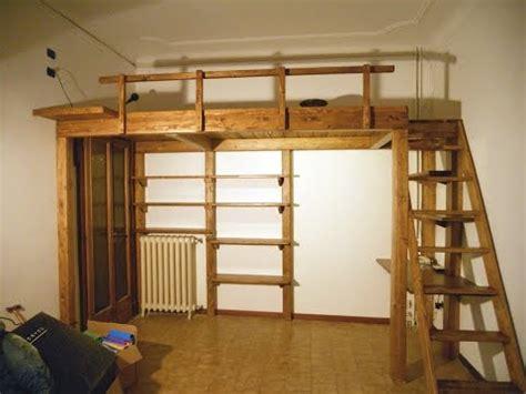 letti a in legno per adulti spazio2 net soppalco letto per adulti