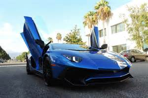 Lamborghini Market Bright Blue Lamborghini Aventador Sv Hits The Market In