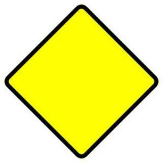 what does a yellow sign us drivers license test