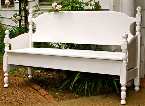 make garden bench build a garden bench from a bed little house in the suburbs