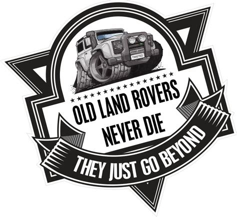 Wall Stickers Football koolart old land rovers never die slogan for land rover