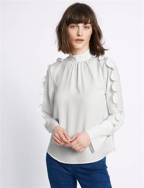 Limited Edition Tie Neck Blouse by Turtle Neck Ruffle Sleeve Blouse Endource