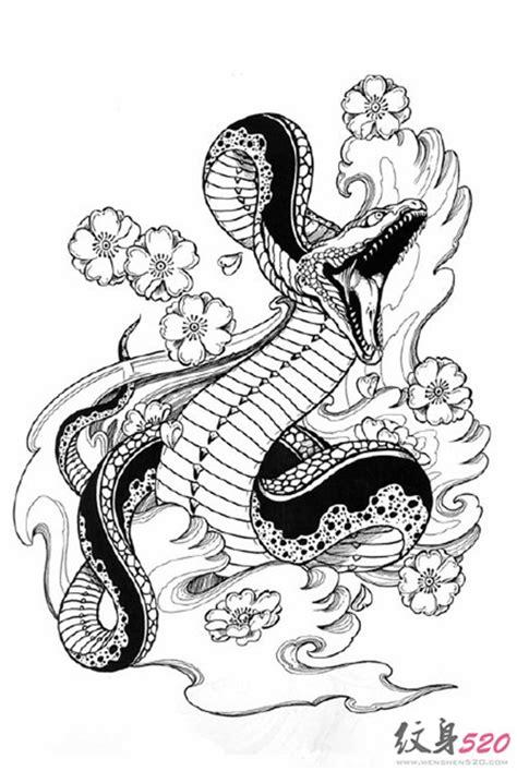 各类蛇纹身手稿素材欣赏第2页