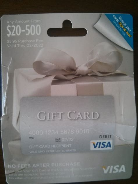 Activate Visa Gift Card - visa gift card activation code