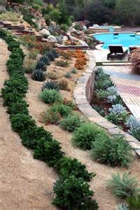 steep hill backyard ideas back yard landscaping design idea with steep slope