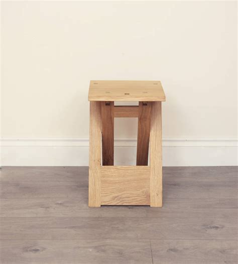 Folding Wooden C Stool wooden folding stool or side table by griffin and sinclair